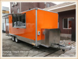 Nourriture orange de camping-car de Ys-Fv580 5.8m la grande troque la remorque mobile de nourriture
