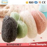 カスタマイズされた自然なKonjac浴用石鹸の網のパフの顔のスポンジの卸売
