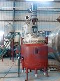 Préparation du navire en acier inoxydable pour l'émulsion