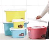 Caixa de empacotamento plástica da caixa de sapatas da caixa de presente da caixa de armazenamento do projeto colorido quente da venda para produtos do plástico do agregado familiar