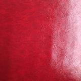 La cera del petróleo Piel-Imitó el cuero de la PU del cuero artificial para los zapatos o los bolsos (HS-M055)