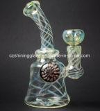 De populaire Gestreepte Boorplatforms van het Glas van de Korrel voor het Roken