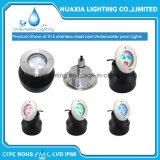 Luzes subaquáticas Recessed 316ss brancas da associação do diodo emissor de luz 9W