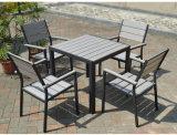 Patio al aire libre muebles de aluminio de plástico de madera Tabla silla del brazo (J806)