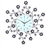 Hot Sale Beautiful Blossom Metal Digital Clock