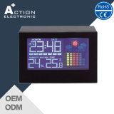 LCD 다채로운 전시를 가진 큰 스크린 기상대 달력 시계
