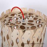 DIY 창조적인 나무로 되는 건강한 물결무늬의 옷감 샹들리에