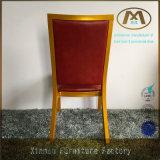 Qualitäts-haltbarer und bequemer roter lederner Metallhotel-Stuhl