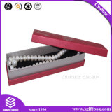 Vakje van de Juwelen van de Voering van de Zijde van de Halsband van het Document van het Ontwerp van de douane het Verpakkende