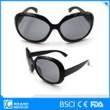 De in het groot Grote Zonnebril van de Lens van het Frame Donkere Zwarte voor Vrouwen