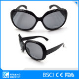 Vente en gros Big Frame Dark Black Lens Lunettes de soleil pour femmes
