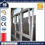 Het Openen van de schuine stand & van de Draai Openslaand raam van het Aluminium van de Ruit van de Stijl het Dubbele