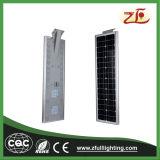 40W Ce RoHS CQC IP67 todo en una luz de calle solar