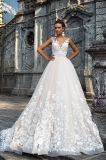 Верхняя часть Milena отклоняет платья венчания Princess Разнослоист