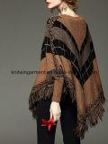 Одежда женщин шеи экипажа длинней втулки нашивок вскользь (W18-601)