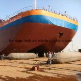 Sacs à air en caoutchouc marins de levage de transport sauvants de lancement de bateau pour le chantier naval