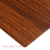 Hoja de madera del grano del PVC/hoja de madera del PVC del grano