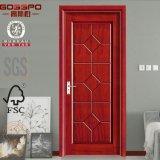 Puerta de caoba del MDF de la chapa de la puerta de madera sueca (GSP8-004)