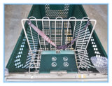 Chariot chaud de chariot à achats de supermarché de vente avec les paniers en plastique