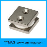 NdFeBの磁石の穴が付いている専門のネオジムのブロックの磁石