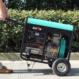 Generatore silenzioso del diesel 5kv del Portable 5000watt della famiglia raffreddata ad aria di monofase del bisonte (Cina) BS6500dsec 5kw 5kVA piccolo