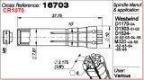 Collet 16703 шпинделя серии западного ветра M320
