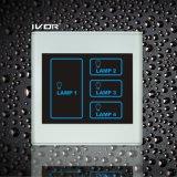 Frame plástico do interruptor do toque de iluminação de 4 grupos (SK-T2300L4)