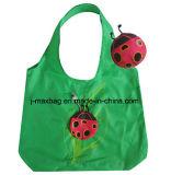 Sac à provisions pliable avec la poche 3D, le type animal de coccinelle, les sacs réutilisables, légers, d'épicerie et maniable, cadeaux, promotion, accessoires et décoration
