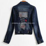 Cappotto blu del `S Jean delle donne breve