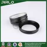 60g 2oz schwarze Farben-Aluminiumglas mit Fenster-Schutzkappen-leeres kosmetisches Haut-Sorgfalt-Sahne-Glas-Gesichtsverfassungs-Sahne-Behälter mit Kappe