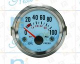 """manometro dell'olio 0-100 di 2 """" 52mm con indicatore luminoso freddo"""