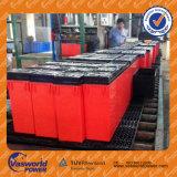 Batería recargable sellada 100ah de la terminal 12V del frente de la marca de fábrica del OEM