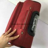 Sacchetto rosso durevole del carrello del tessuto di Oxford, valigia casuale dei bagagli di corsa di formato su ordinazione con le rotelle