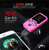 Adaptateur sonore de récepteur Bluetooth de véhicule de MP3 de véhicule émetteur FM mains libres sans fil du nécessaire 3.1A Bluetooth avec le distant
