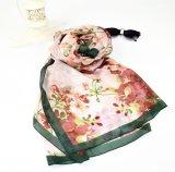 Bufanda famosa de la seda de Hangzhou de la flor colorida del alto grado de la señora