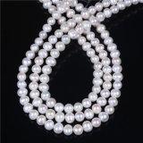 стренга перлы формы картошки качества 9mm 10mm белая свободная