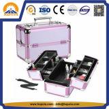 Étui de beauté multifonctionnel en aluminium pour le maquillage de voyage (HB-2208)