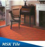 Azulejo de cerámica de la prueba húmeda de la terracota roja