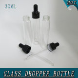 1 oz 30 ml Cylinder Clear Airtight Cosmetic Glass Dropper Bouteille Emballage