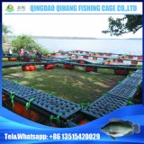 Cage de flottement carrée en plastique de poissons de HDPE pour l'agriculture de Tilapia
