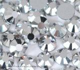 de Bergkristallen van het Kristal van het Glas van 5mm steunen vlak het Losse Kristal van Bergkristallen (fB-Ss20 zilver)