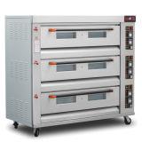 Forno do cozimento da padaria do gás de 9 bandejas/forno comercial do cozimento do pão do gás