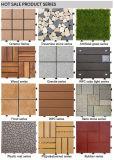 Azulejo de suelo plástico del nuevo grano de madera del diseño que se enclavija para el jardín