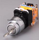 キー溝の錠機構の押しボタンスイッチ(LA118Mシリーズ)