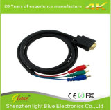 Connecteur mâle VGA de 1,5 m Câble AV 15 broches à 3 RCA AV