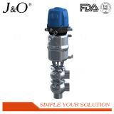 Válvula de inversão sanitária com atuador pneumático