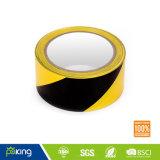 Dispositif avertisseur de PVC de doubles couleurs (noir jaune) pour des opérations d'avertissement