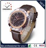 Relógio de aço de mármore clássico dos homens de quartzo do caso e do caso de Stainles do seletor