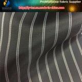 黒いヤーンによって染められる縞ファブリック、ファブリック(S25.26)を並べるポリエステルファブリック