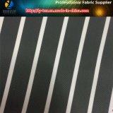 Schwarzes Polyester-Streifen-Gewebe für hochwertiges Kleid-Futter (S39.172)